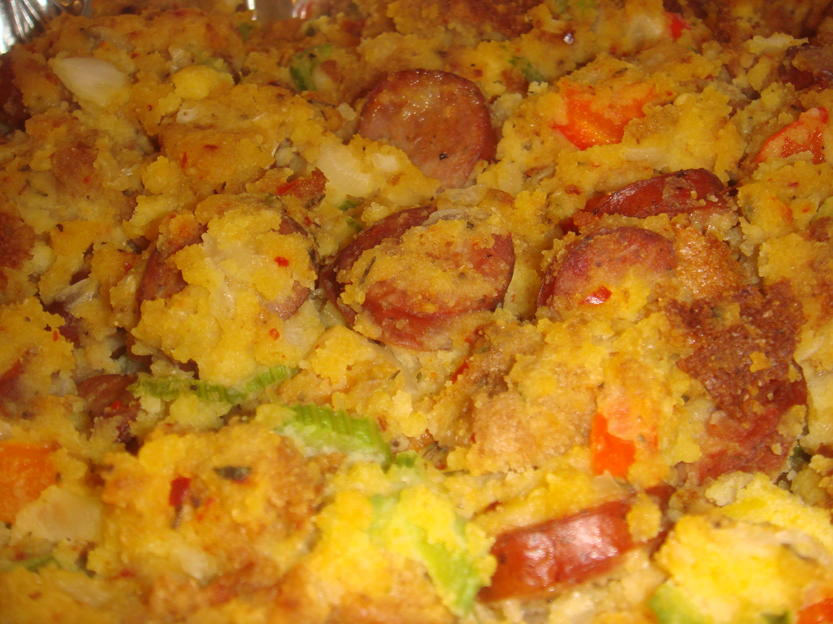 GOLDEN CORNBREAD AND CAJUN ANDOUILLE SAUSAGE STUFFING |